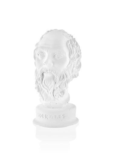 The Mia Antik Biblo Figürü -Socrates Beyaz